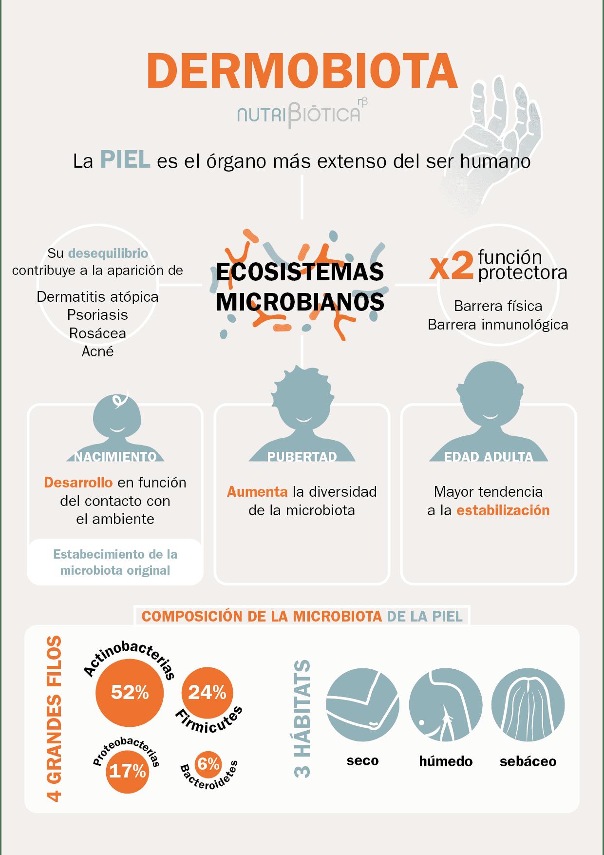 infografia dermobiota