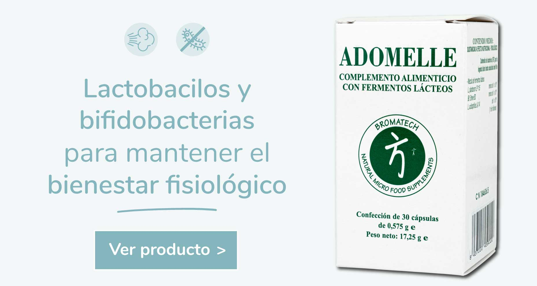 Probióticos adomelle obesidad microbiota sibo